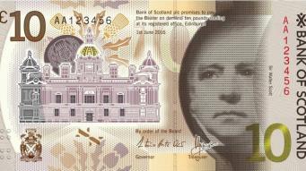 В Шотландии представлен дизайн новой пластиковой банкноты фото:bbc