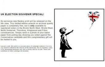Бэнкси предложил бристольцам нарушить закон в обмен на эксклюзивный постер фото:standard.co.uk