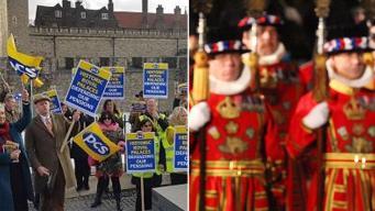 Бифитеры Тауэра устроили забастовку против пенсионной реформы