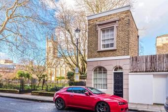 Миниатюрный дом в Челси выставлен на продажу за двойную среднерыночную цену фото:standard.co.uk