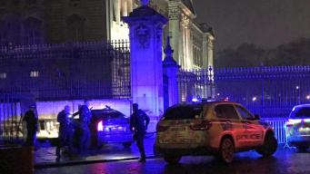 Легковой автомобиль врезался  ограду Букингемского дворца