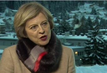 Тереза Мэй рассказала о переговорах с банкирами на экономическом форуме в Давосе фото:bbc