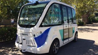 Беспилотные микроавтобусы начали курсировать по Олимпийскому парку Лондона фото:thetimes