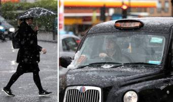 В Лондоне случилась снежная гроза