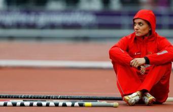 Легкоатлетка Елена Исинбаева