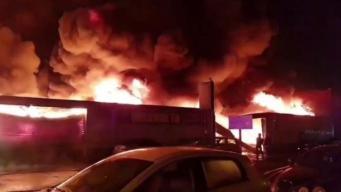 Пожар в Бирмингеме уничтожил магазин автомобильных покрышек