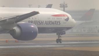 Авиакомпания British Airways отменила более сотни рейсов из-за тумана