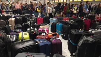 Пассажиры десятков авиарейсов улетели из аэропорта Гатвик без багажа фото:bbc
