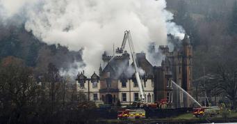 Пожар в пятизвездочном отеле в Шотландии