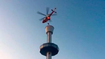 Посетители аттракциона в Веймуте были эвакуированы вертолетом