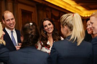 Королевская семья провела прием в Букингемском дворце для британской Олимпийской сборной фото:dailymail.co.uk