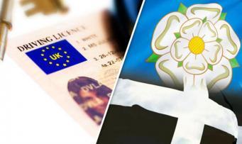 Изображение флага Евросоюза на водительских правах может быть заменено региональными символами