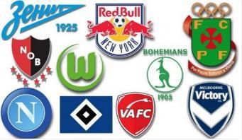 логотипы футбольных команд