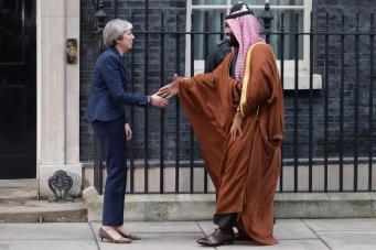 Лондонцы ответили  маршем протеста на визит правителя Саудовской Аравии