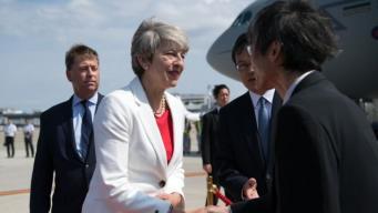Тереза Мэй прибыла на переговоры в Японию фото:bbc