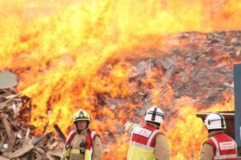 Крупный пожар в промзоне Эссекса: на тушение уйдет не менее недели фото:standard.co.uk