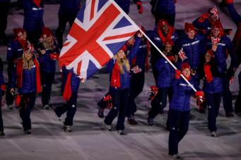 В Параде наций в Пхенчхане приняли участие пятьдесят восемь британских спортсменов