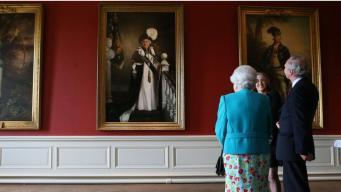 Королеве Елизавете II представили ее новый официальный портрет в Шотландии фото:bbc.com