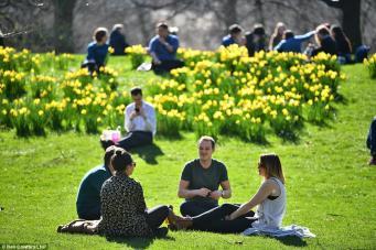 Новый температурный рекорд весны зафиксирован в Лондоне фото:dailymail