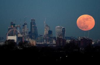 Голубое кровавое суперлуние: лондонцы увидели редкое астрономическое явление