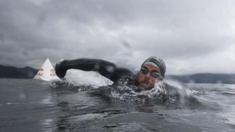 Британец установил рекорд по плаванию в открытом море