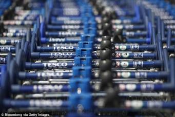 Tesco  вынужден разблокировать покупательские тележки в своих магазинах фото:dailymail.co.uk