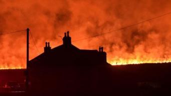 Лесные пожары разгорелись в Великобритании в самый жаркий февральский день