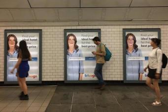 Лондонцы обескуражены навязчивой рекламой Trivago в метро