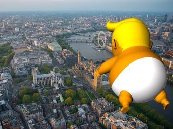 Мэрия Лондона согласовала запуск в небо надувной карикатуры на Трампа