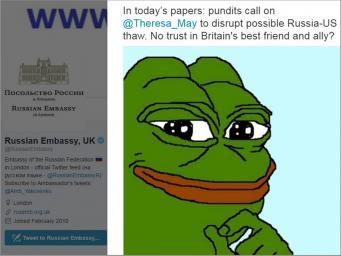 Посольство РФ в Лондоне потроллило Терезу Мэй любимым мемом Дональда Трампа фото:twitter