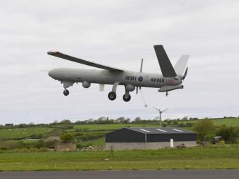 Военный дрон разбился на западе Уэльса