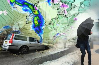 На Англию надвигается атлантический шторм