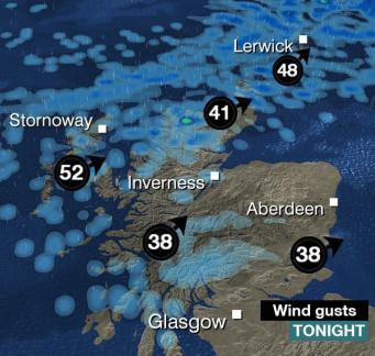 На Шотландию надвигается атлантический шторм фото:bbc.com