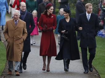 Королевская семья посетила рождественскую службу в Сандрингеме