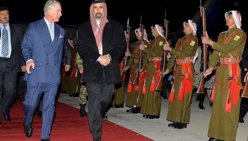 Принц Чарльз и король Абдулла II