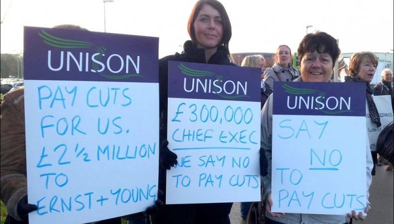 забастовка профсоюза UNISON