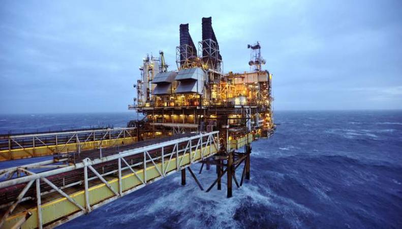 нефтяная скважина в Северном море