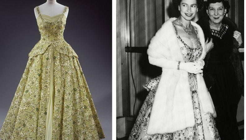 бальное платье королевы Елизаветы II