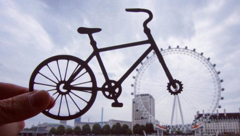 Лондонский глаз в фотоколлаже
