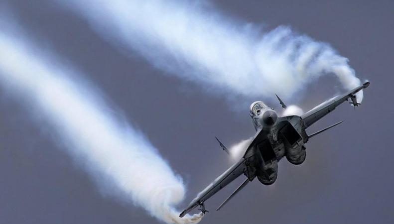 Взлёт МИГ- 29 на шоу покорил британцев