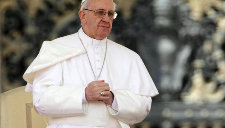 Папе римскому Франциску нанес визит премьер-министр Украины Арсений Яценюк
