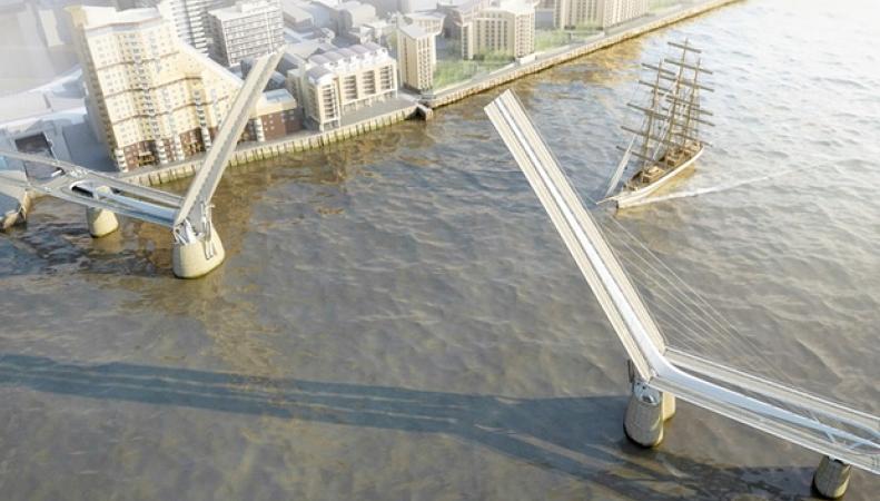 разводной мост через Темзу