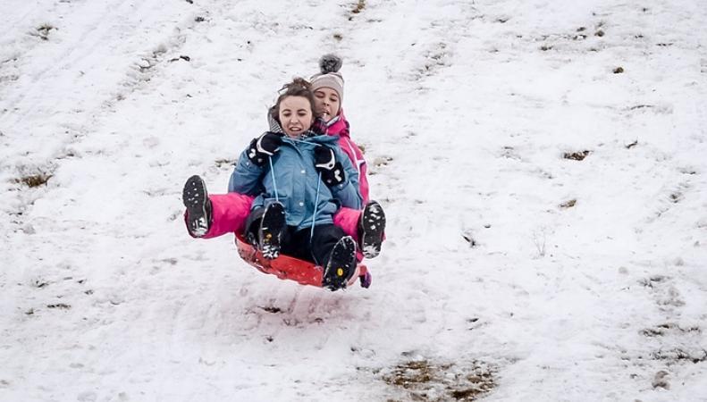 снегопад на севере Англии