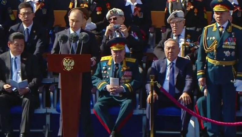 Путин с ветеранами из Великобритании