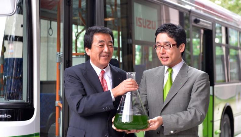 Первый в мире автобус на топливе из водорослей начал ездить в японском городе Фудзисава