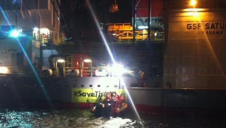 Платформу «Газпрома» заблокировали гринписовцы в голландском порту