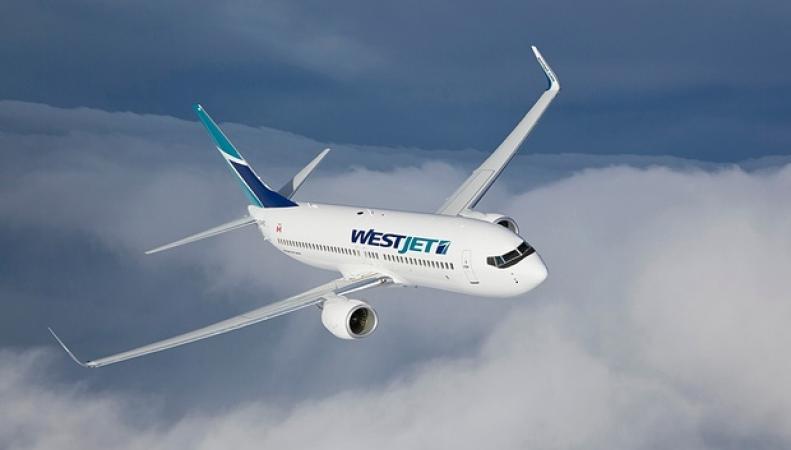 самолет WestJet