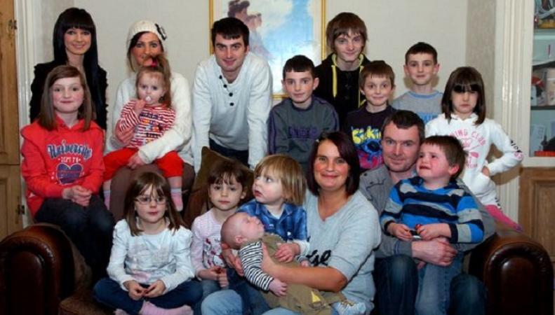 В самой многодетной британской семье родился 18-й малыш