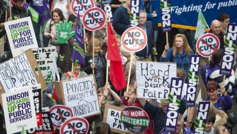 акция протеста профсоюзов