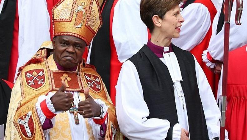 Архиепископ Йоркский Джон Сентаму и епископесса Стокпортская Либби Лейн